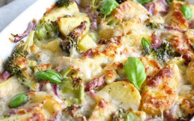 Chicken, broccoli and potato bake